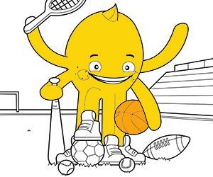 desenhos de Esporto e Aventura para colorir e imprimir