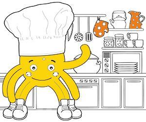 desenhos de Culinária para colorir e imprimir