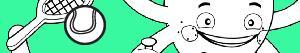 desenhos de Pypus e os esportes para colorir