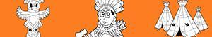 desenhos de Índios norte-americanos para colorir