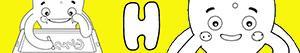 desenhos de Nomes de Menino com H para colorir