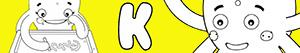 desenhos de Nomes de Menina com K para colorir