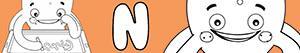 desenhos de Nomes de Menino com N para colorir
