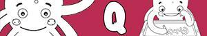 desenhos de Nomes de Menino com Q para colorir