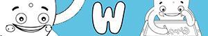 desenhos de Nomes de Menino com W para colorir