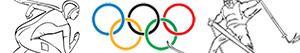 desenhos de Jogos Olímpicos de inverno para colorir