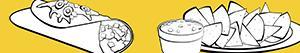 desenhos de Comida mexicana para colorir