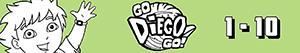 desenhos de Contar de 1 a 10 com Diego e animais para colorir