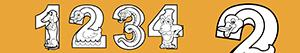 desenhos de Números como animais para colorir