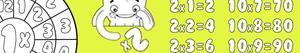 desenhos de Tabuadas de multiplicar para colorir